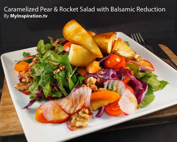 salad and top with the caramelized pears throw over some chopped ...