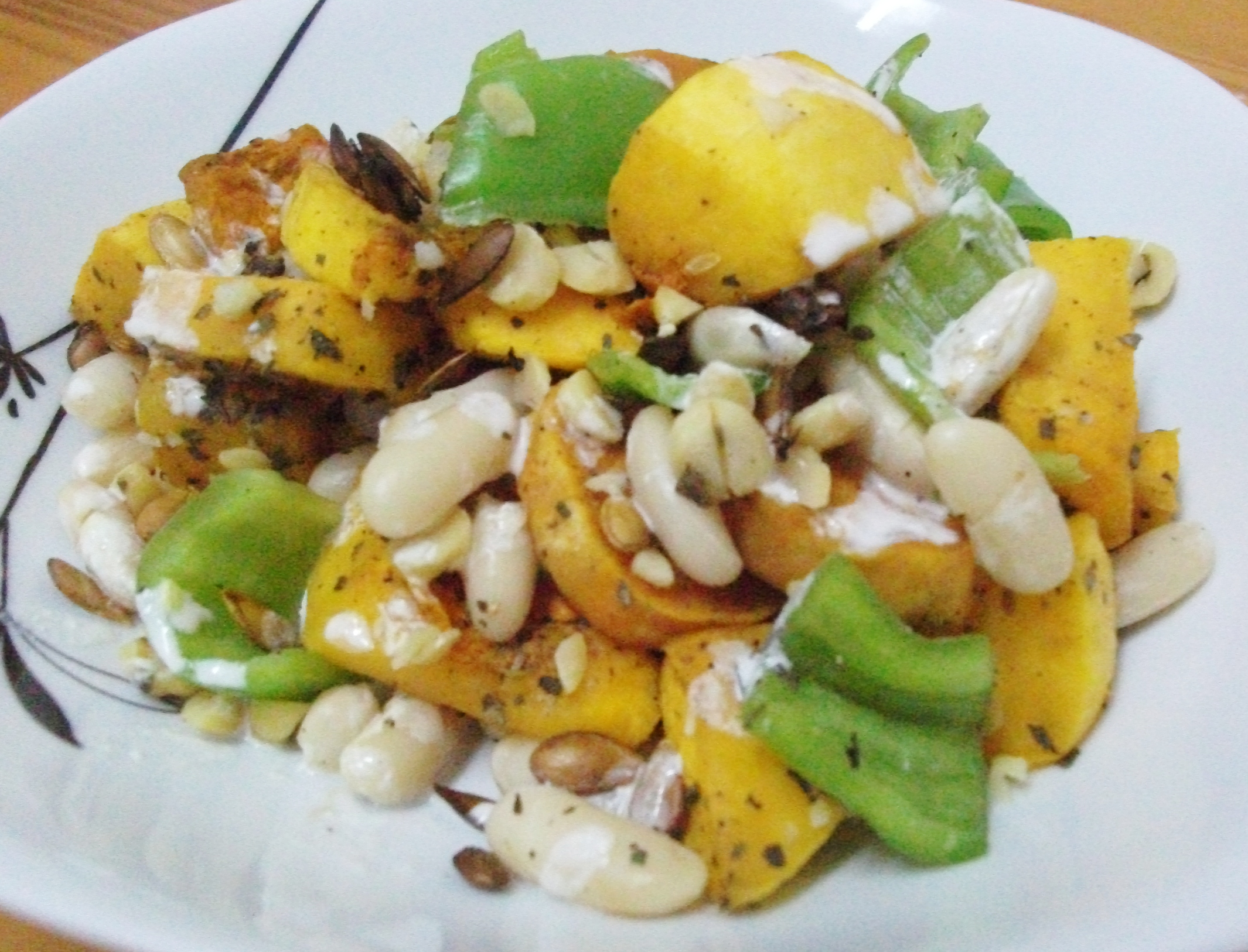Roasted Squash and White Bean Salad with Tahini Dressing, delicious ...