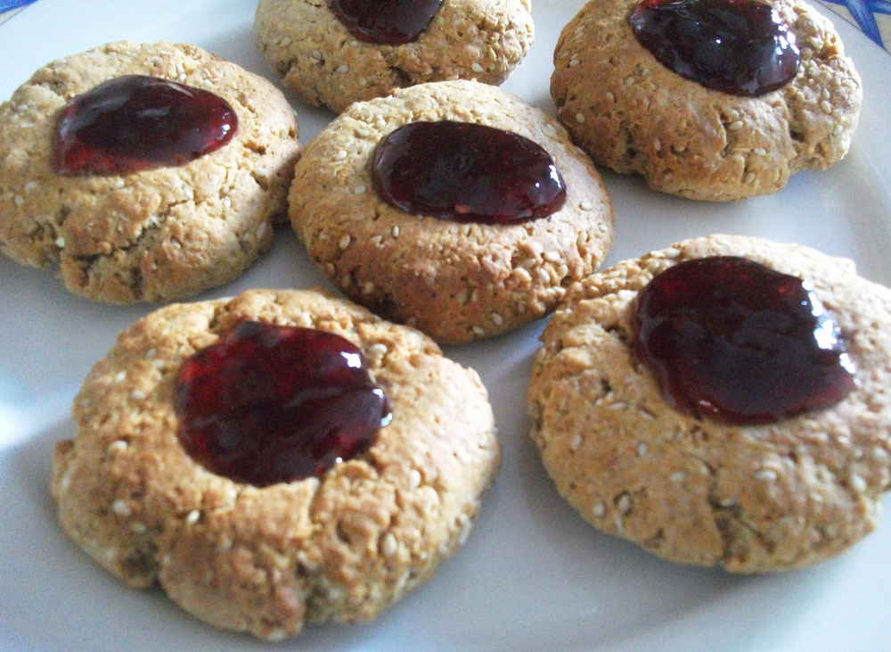 Quick, Healthy, Scrumptious Peanut Butter and Jelly Cookies, Vegan and ...