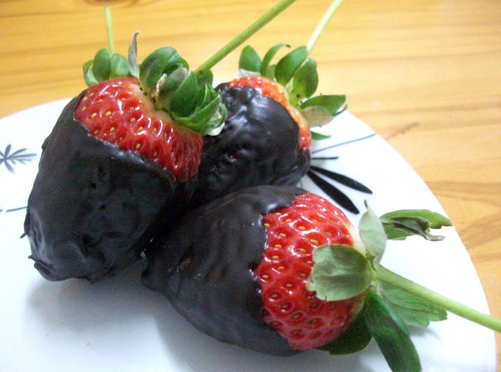 Chili Choc dipped strawberries