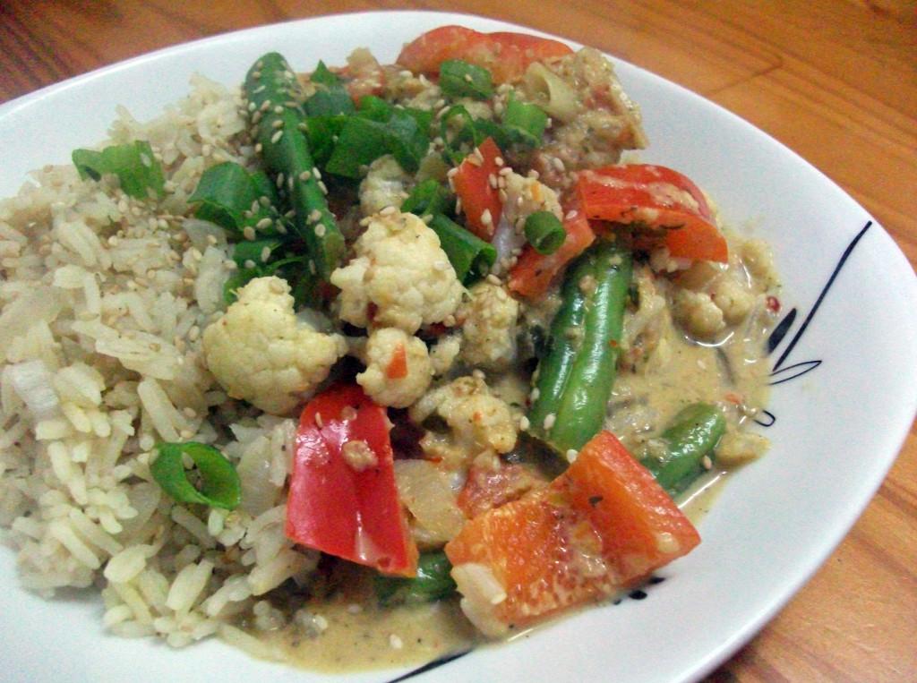 Thai Cauliflower & Red Pepper Curry