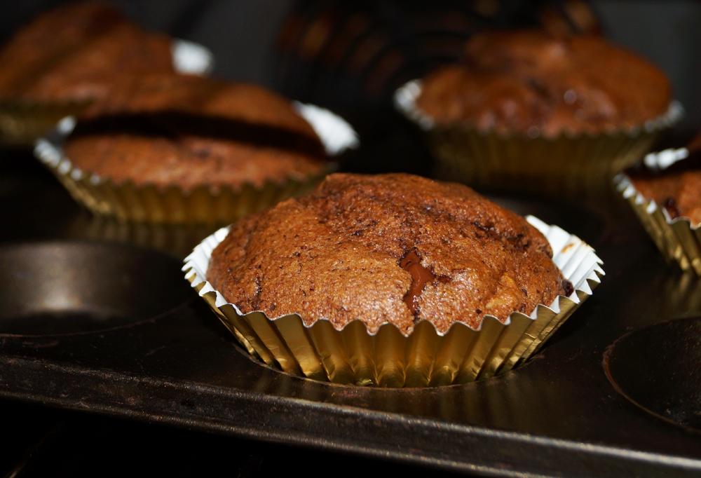 Sour Cherry, chocolate and walnut muffins b