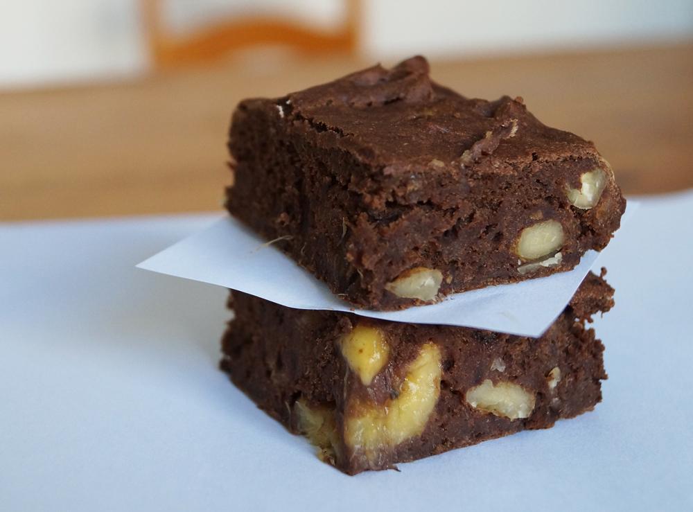 choc banana wlanut brownie