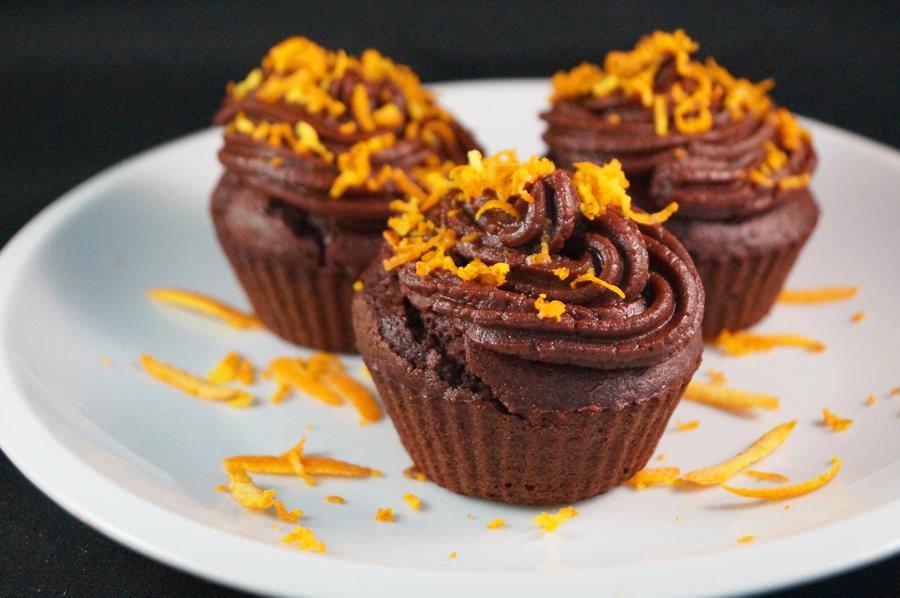 Luxury Chocolate Orange Cupcakes with a Zesty Chocolate