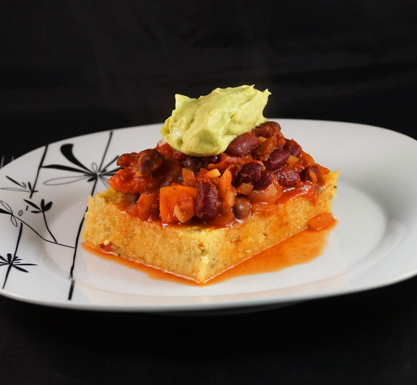 chili polenta and goulash