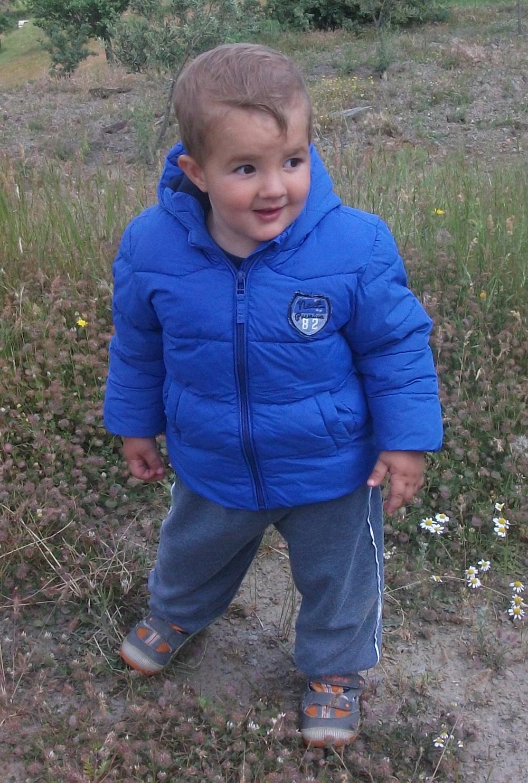 My baby nephew looking mischievous.