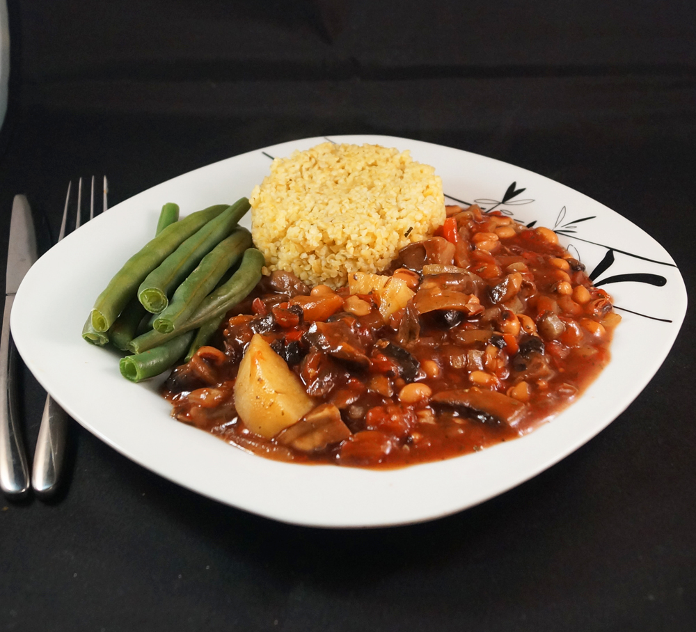mushroom and black eye bean cassoulet