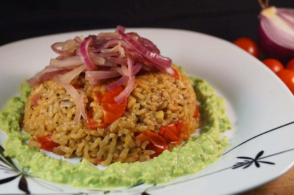 tomato chili herb risotto