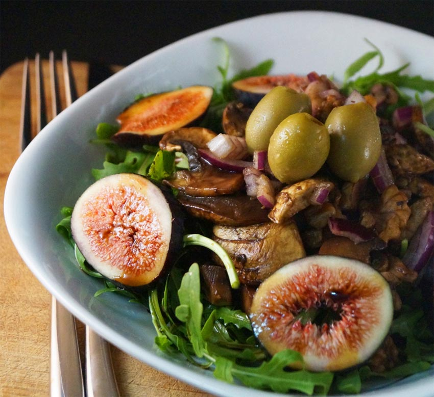 fig and mushroom salad