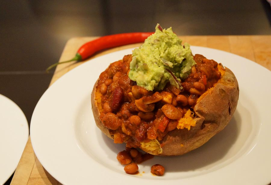 Twice-Baked Sweet Potatoes with Chili Oat Topping - A savory-sweet ...