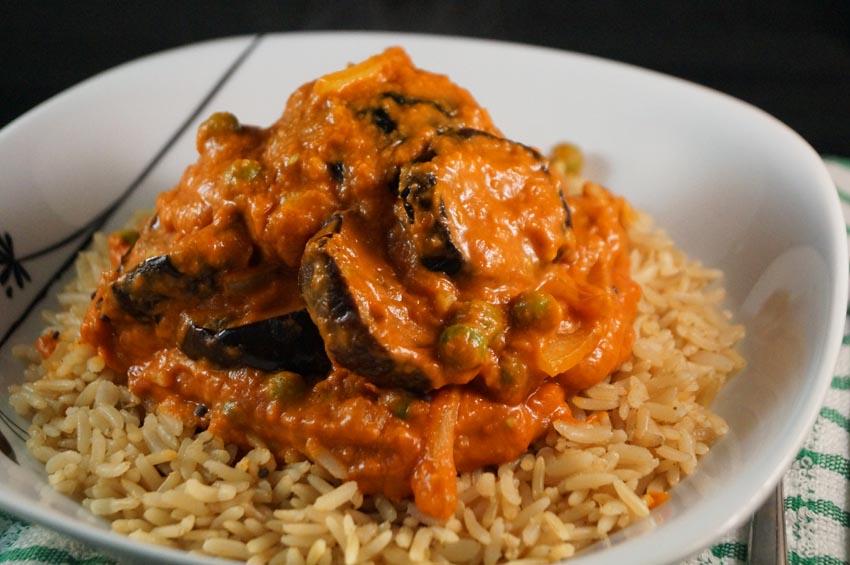 Aubergine & Pean Curry sm