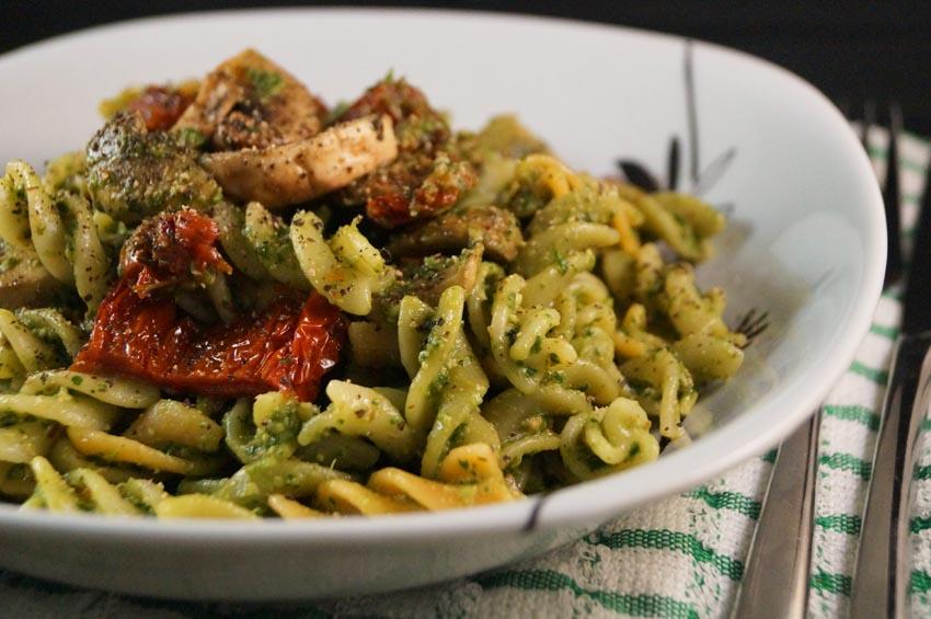 Mushroom and Fresh Pesto Fusilli  b sm