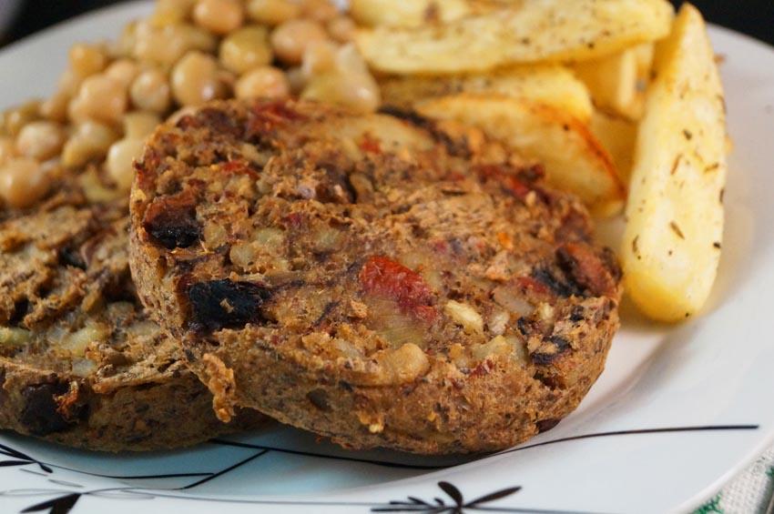 Portobello Mushroom & Sun Dried Tomato Burgers sm