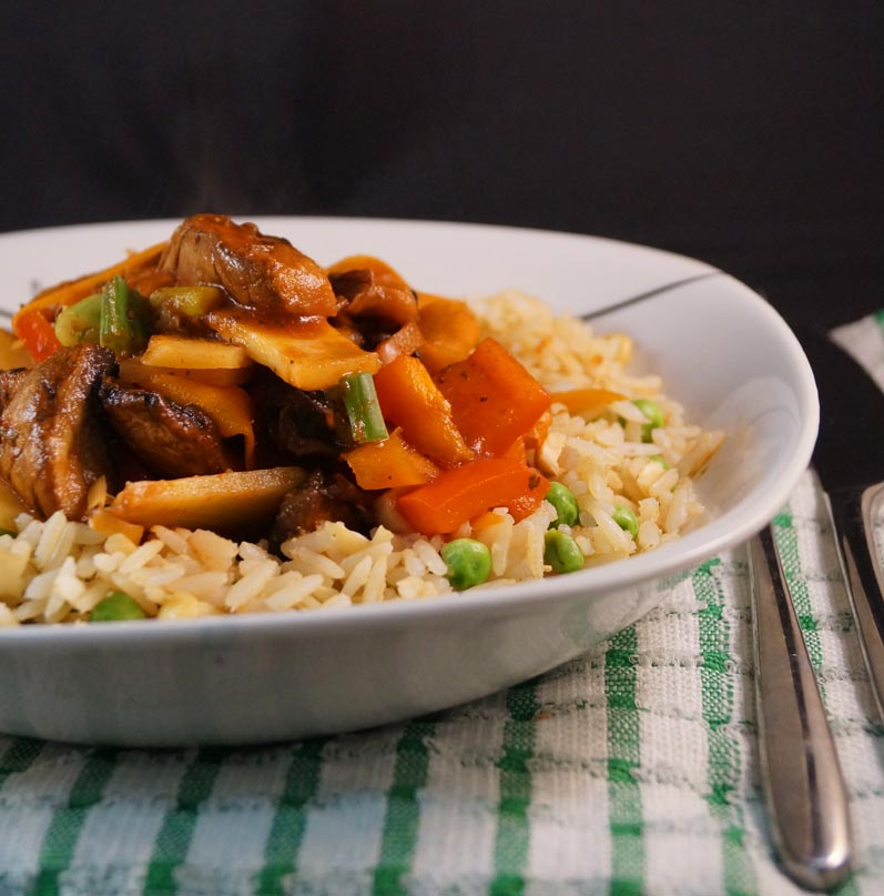 Szechuan Vegetable Curry with Special Brown Rice sm