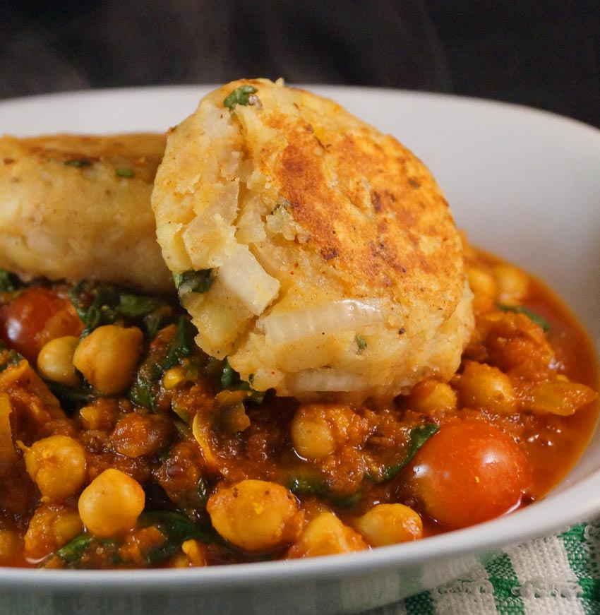 Chana Masala topped with Aloo Tikki This Is My Inspiration | This Is ...