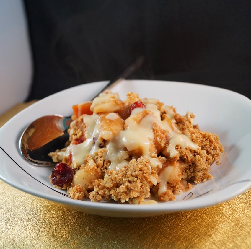 Apple, Plum & Cranberry Crumble sm