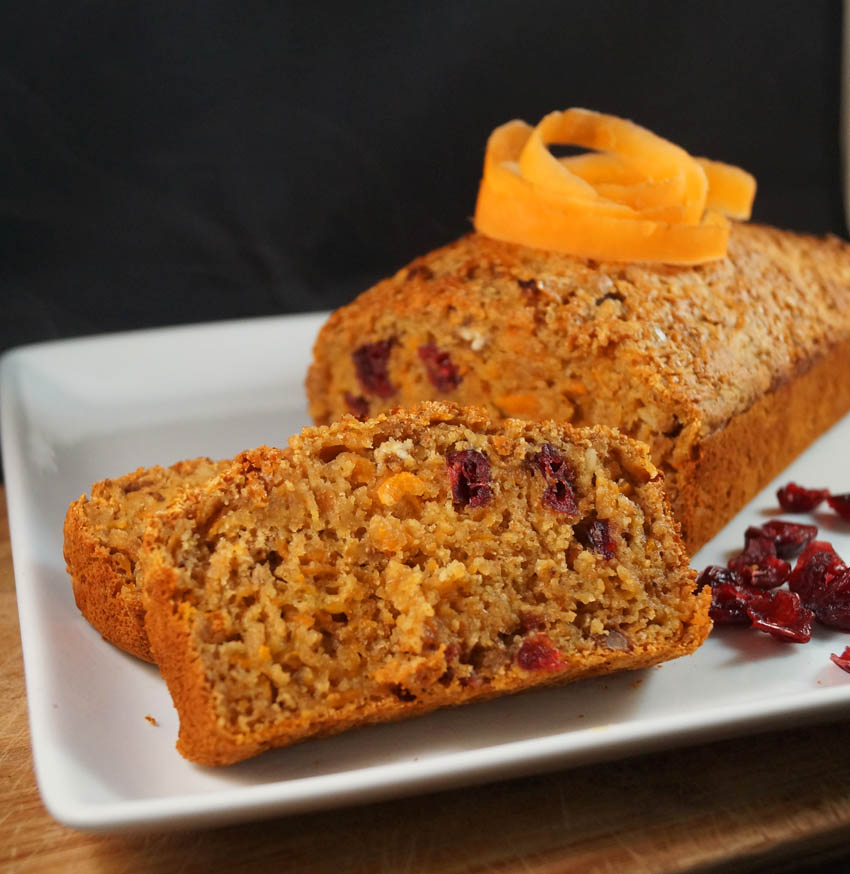 Carrot, Cranberry and walnut loaf sm