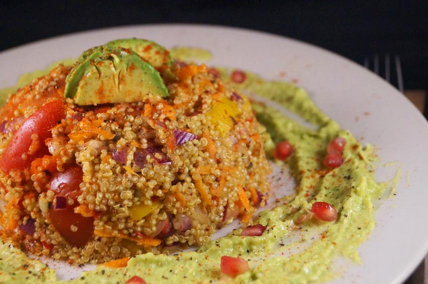 Quinoa Buddha Bowl with Avocado Cream Dressing sm