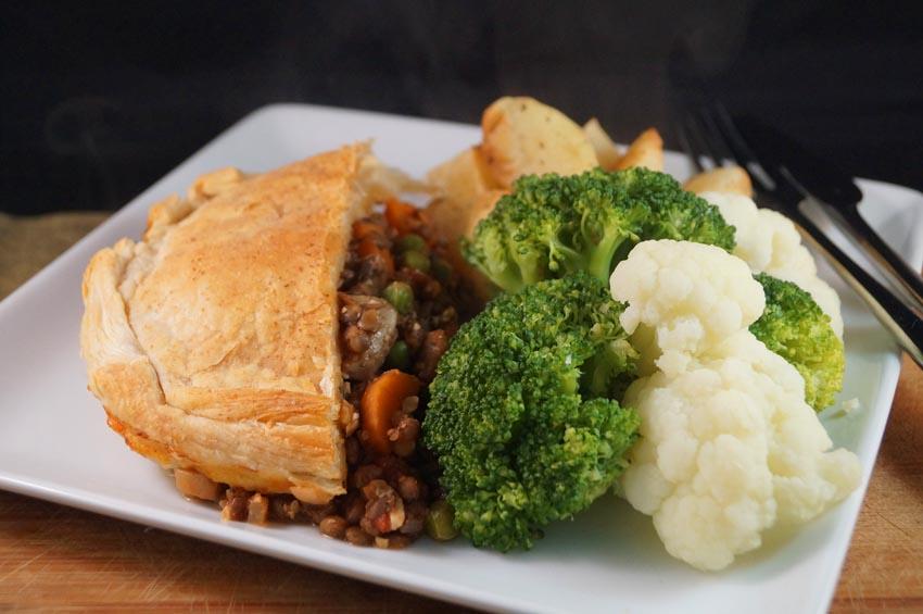 mushroom and lentil pie csm